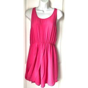 Anthro Greylin Pink Silk Sleeveless Mini Dress